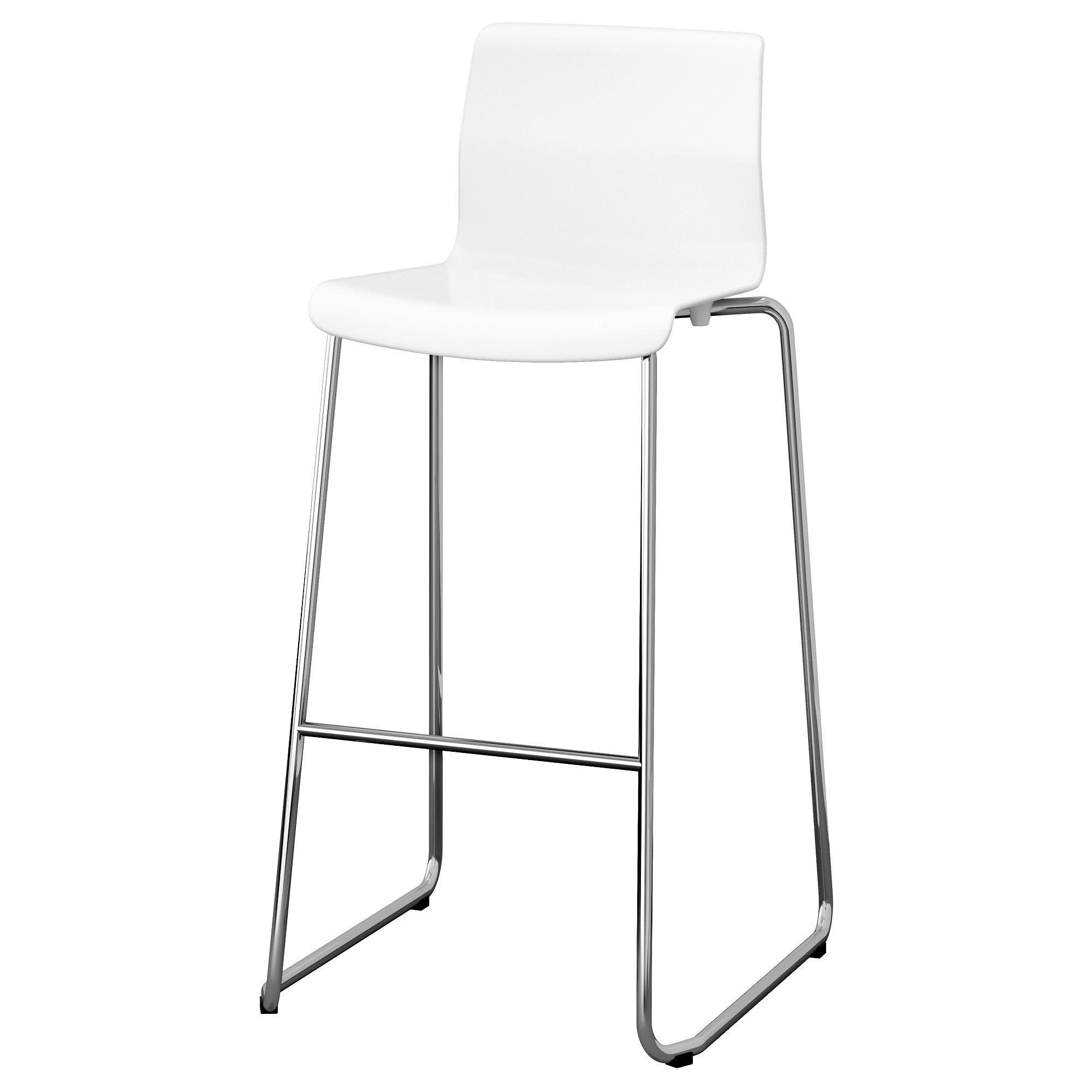 Tremendous Ikea Glenn White Chrome Plated Bar Stool Stool Bar Forskolin Free Trial Chair Design Images Forskolin Free Trialorg