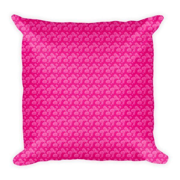Pink Flower Pattern Pillow