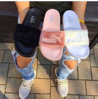 Rihanna | Puma slippers, Shoes, Fashion