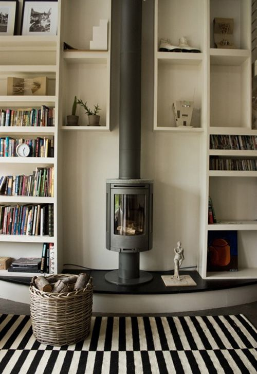 I Like The Shelving Idea Around The Wood Burning Stove We Need All Th Wood Burning Stoves Living Room Freestanding Fireplace Contemporary Wood Burning Stoves #wood #burning #stove #living #room