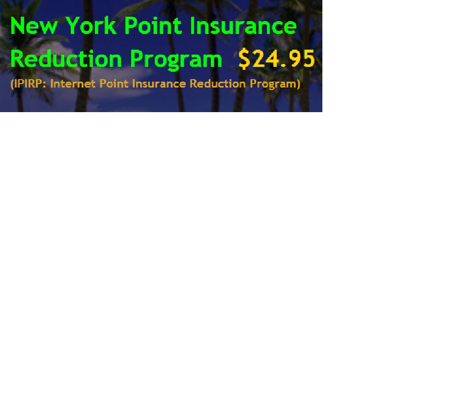 New York Point Insurance Reduction Program Ipirp Is Available