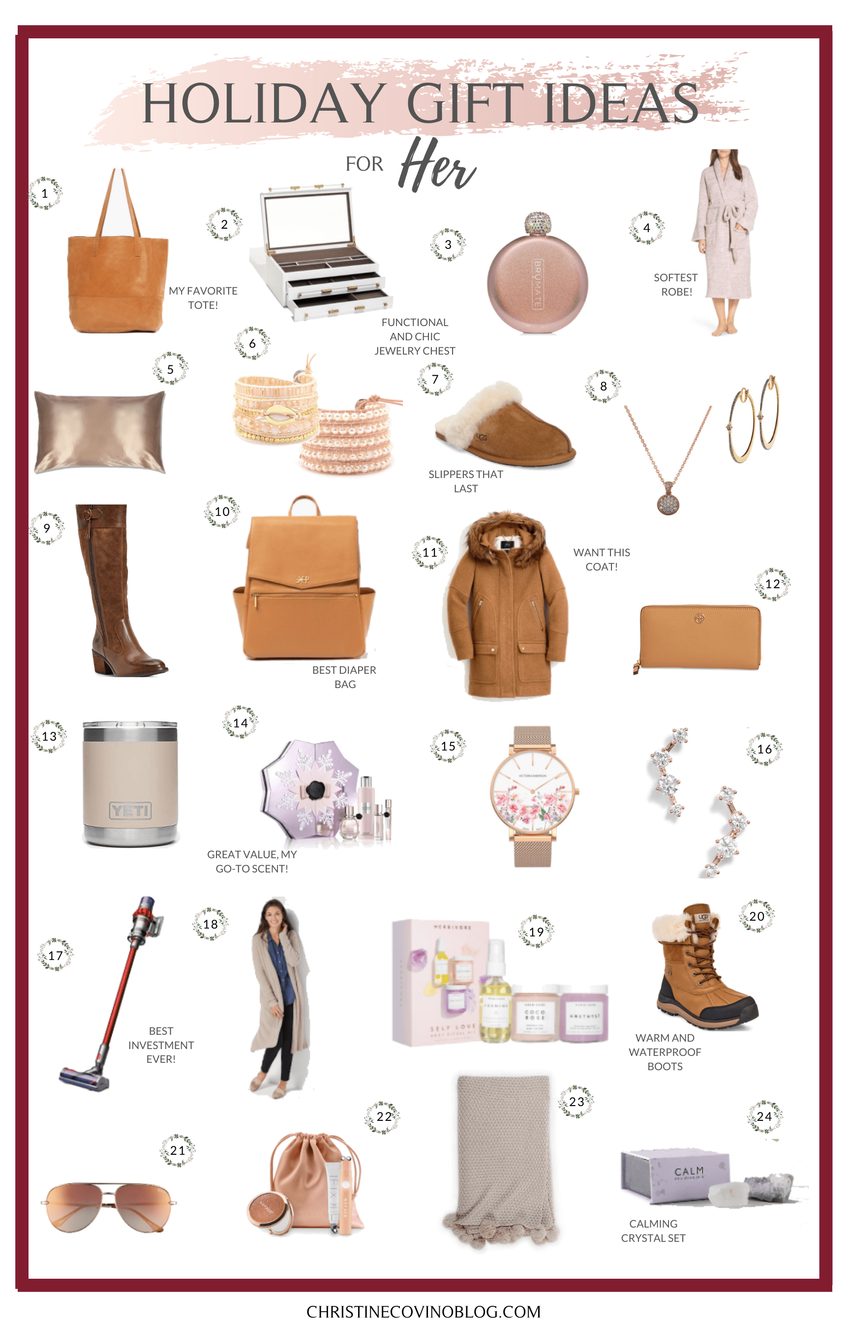 100 of the Best Holiday Gift Ideas for Her | Holiday fun ...