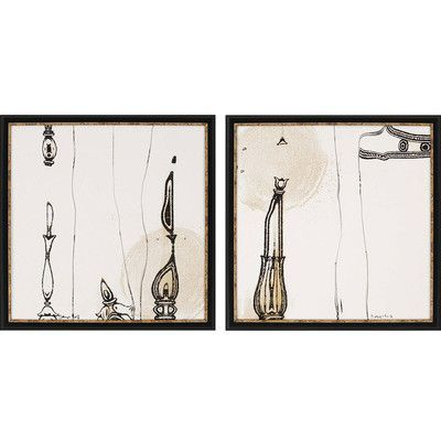 Candelabra by sayilir 22 x 22 framed giclee printed set of 2 paragon wall art wall art h