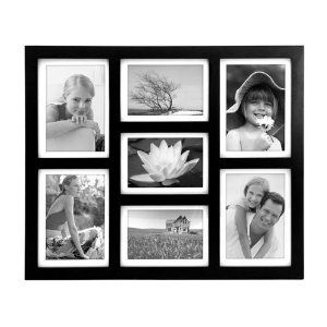 malden 2061 70 southlake 4 by 6 matted wall frame 7 opening collage black - Multiple Photos In One Frame