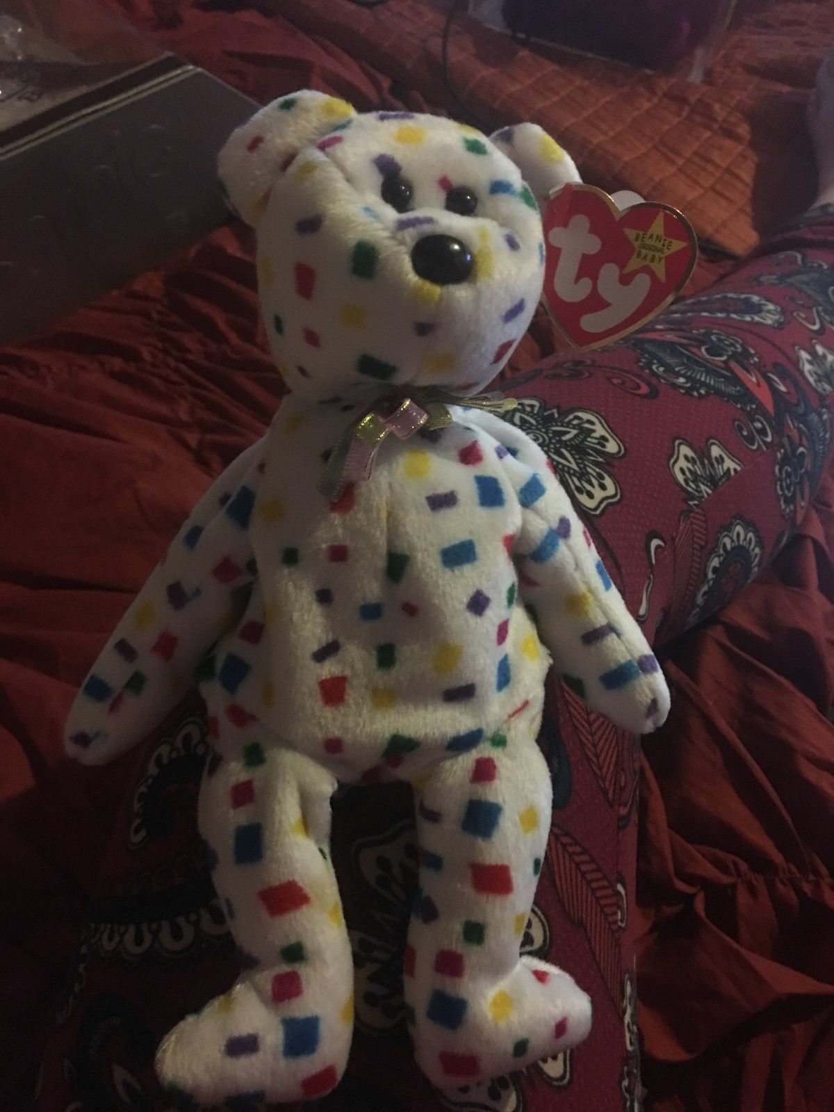 300daa80fc8 ... coupon extremely super rare ty 2k beanie baby with white star on hang  tag e6662 0e125
