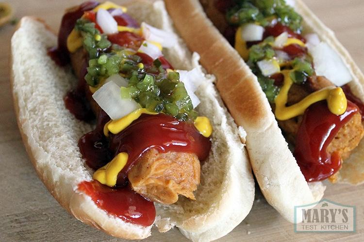 vegan-hot-dogs-paprika-seitan-sausages-finished #weightlosstips