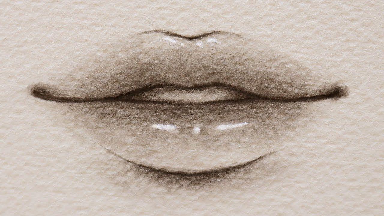 تعلم الرسم بالرصاص كيف ترسم شفاه الانمي الشفايف الكورية للمبتدئين Youtube Aesthetic Art Anime Crying Nose Ring