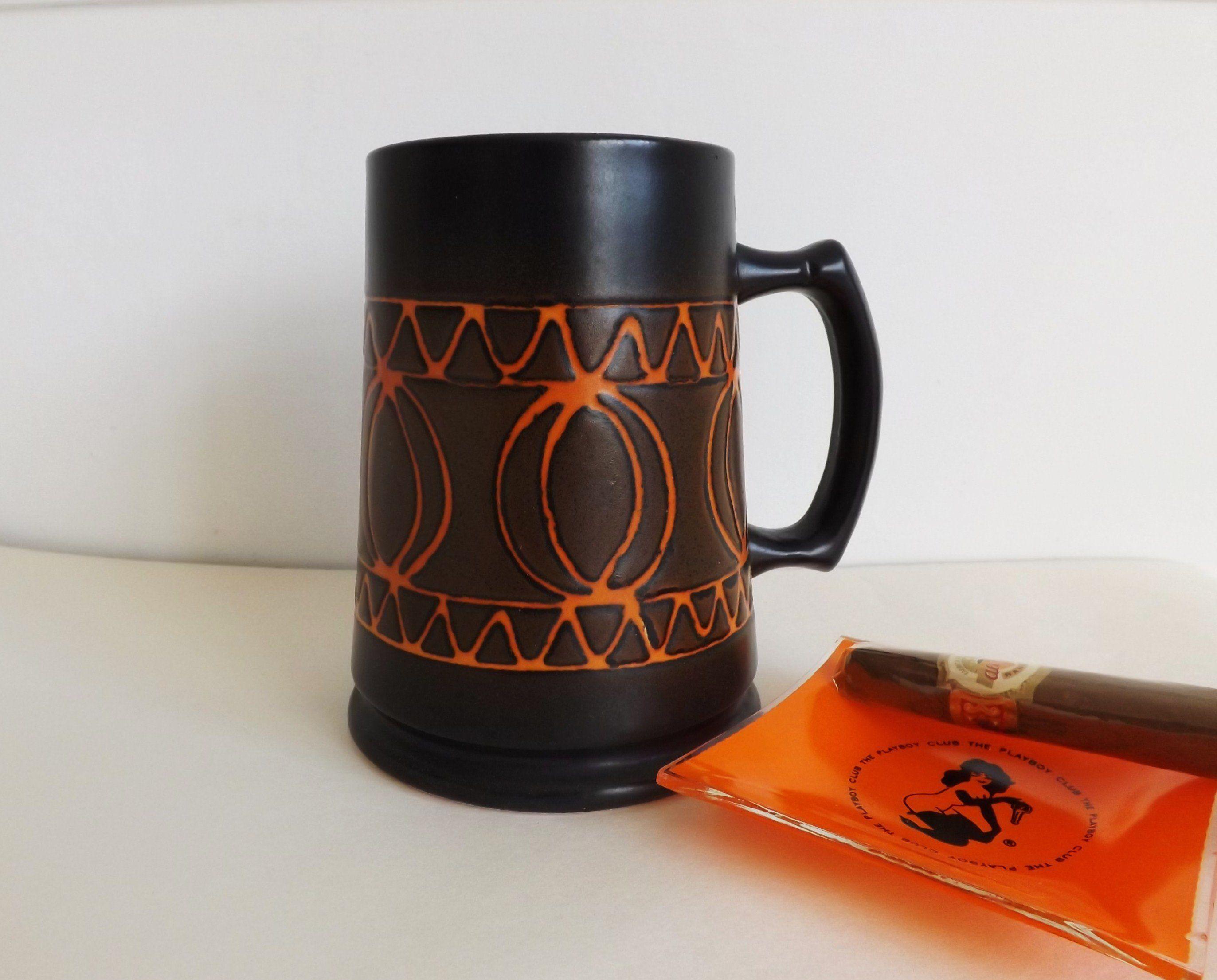 Antiques Ceramics & Porcelain Pitcher Beer Jug Ceramics Brown White Lava Decor Very Decorative