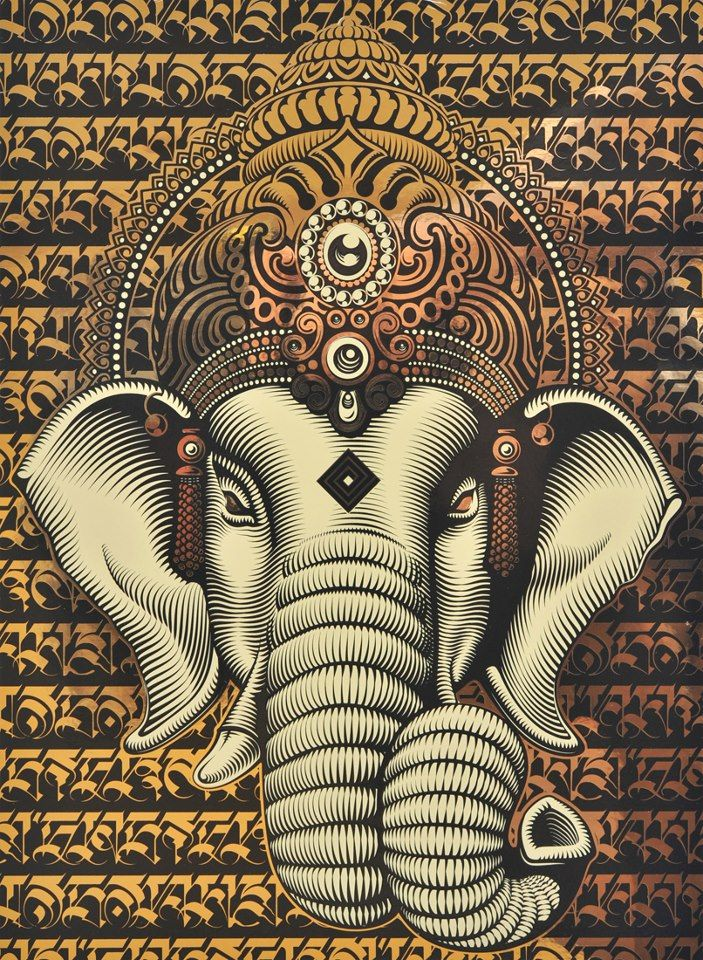 E  Af E  Ae E A  American Hippie Psychedelic Art Eastern Elephant Obey Shepard Fairey Street Artist Revolution Obey Style Street Graffiti Illustration And