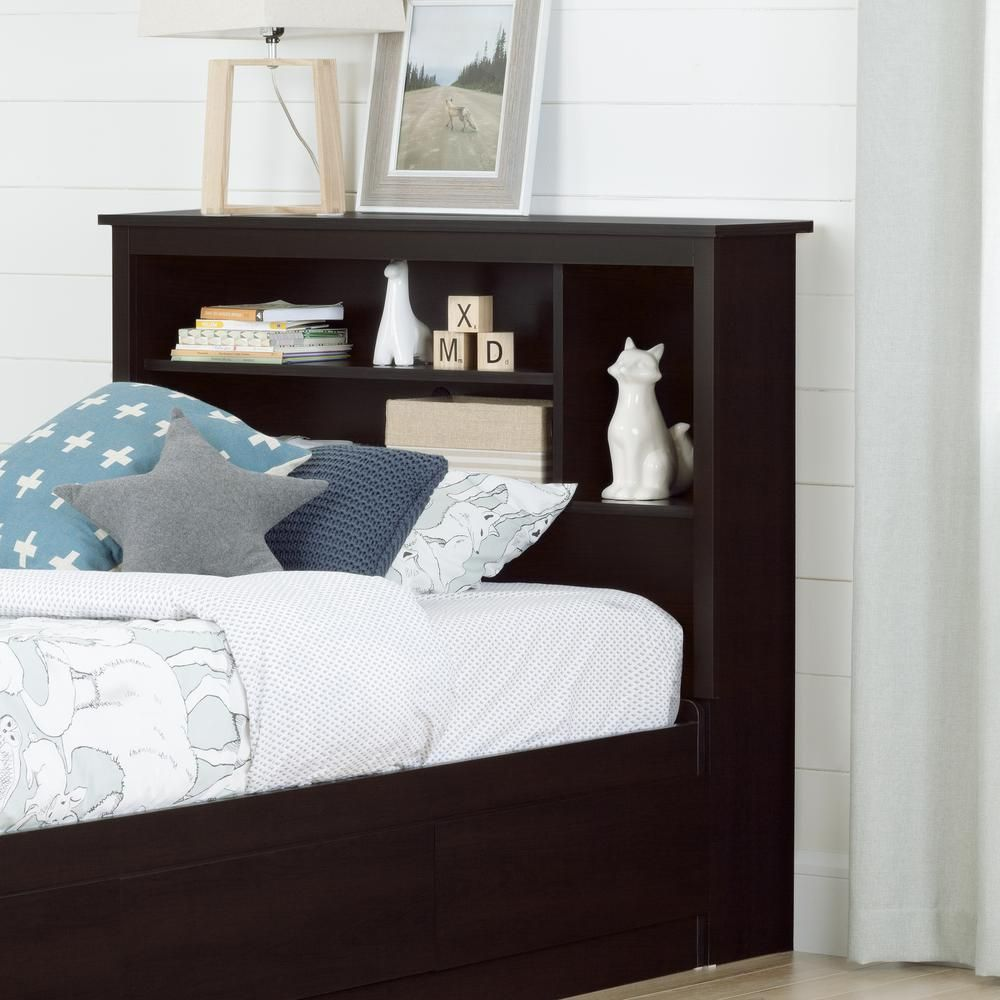 Vito Chocolate Brown Twin Kids Headboard bedfurniturestores