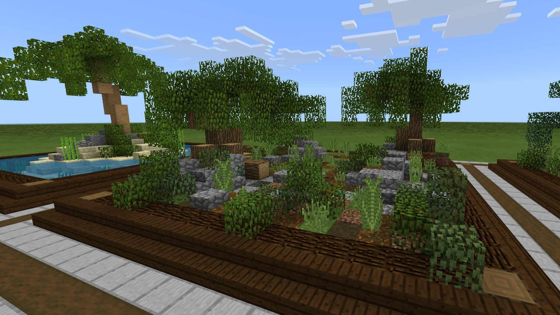 garden ideas minecraft