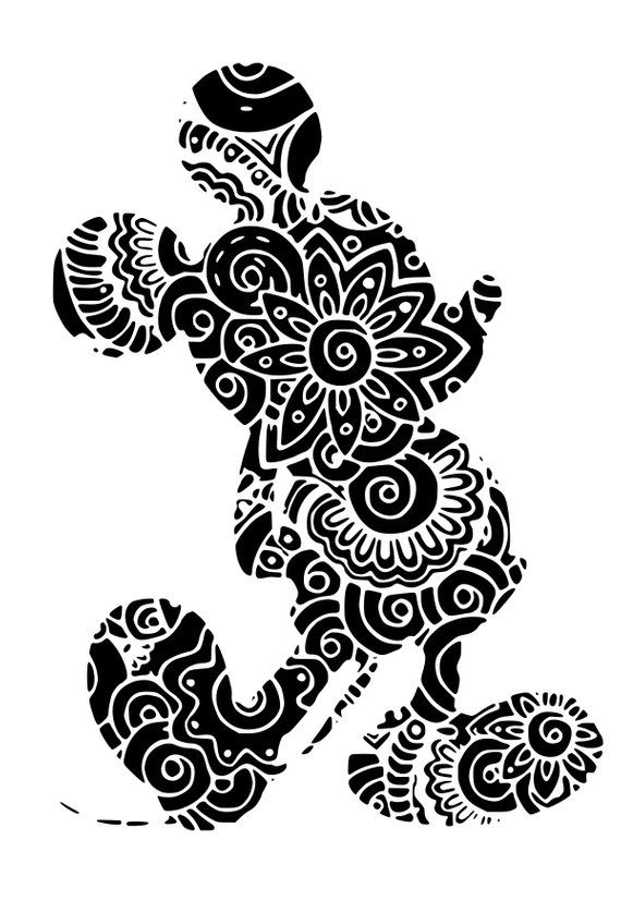 Disney Mickey Mandala Zentangle Intricate Svg Products