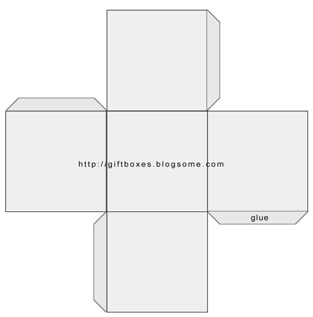 Square box template adapt for a plant pot container for Free box templates