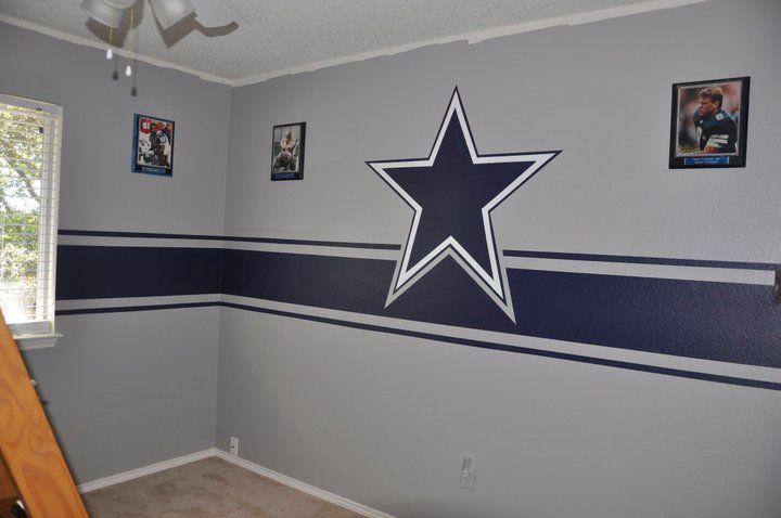 Dallas Cowboys Bedroom Decor. Dallas Cowboys room  now with crown molding Krystal Lacy ideas