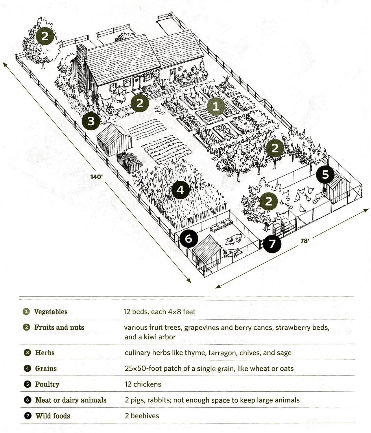 Nieman markets our inspiration for 1 4 acre farm for Garden design ideas half acre