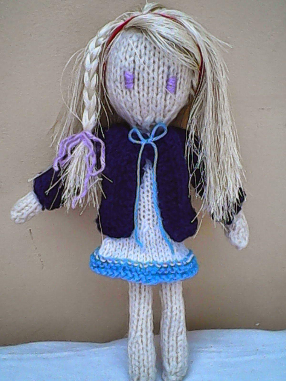 Free pattern: Kadie-jade knitted doll | Holy\'s stuff | knitting ...