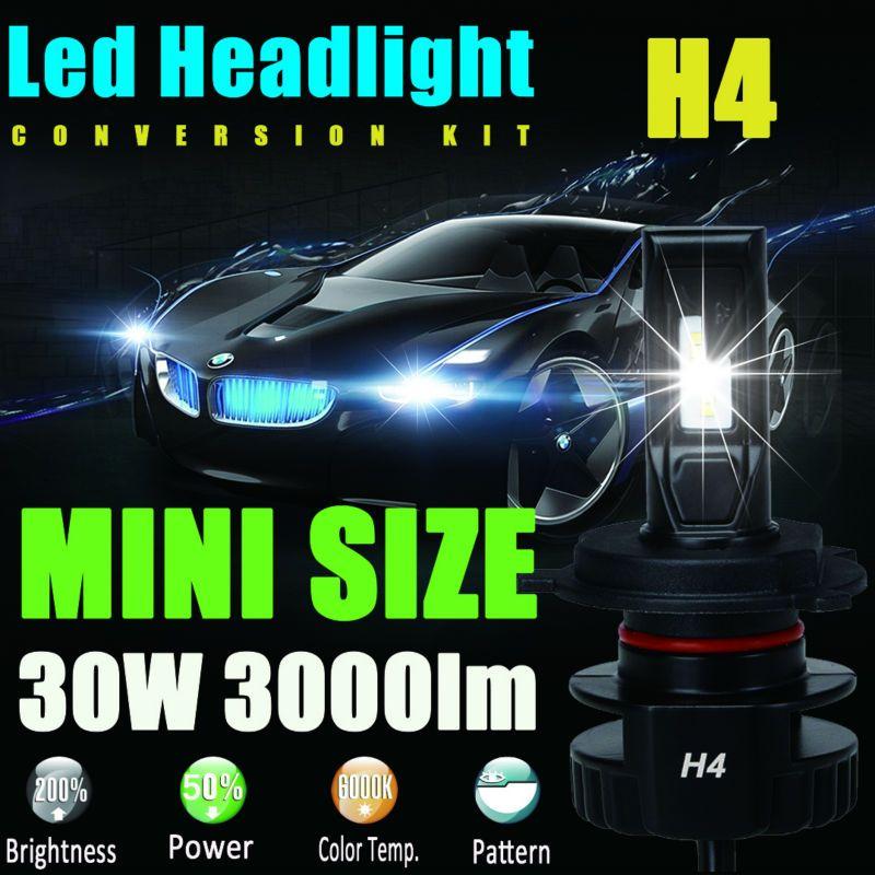 H4 9003 Xenon 6000K White LED Headlight Bulbs High Power Light HID Replacement