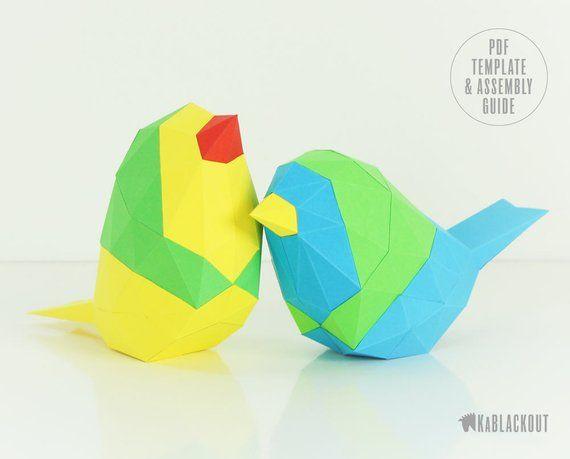 papercraft bird template little paper bird bird paper craft