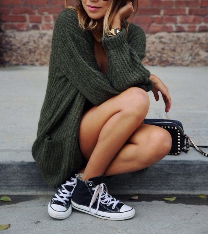 Everything looks good with Converse sneakers