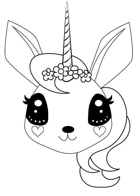 unicorn face coloring page in 2020   Malvorlagen, Vorlagen