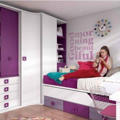 Habitacion juvenil chica dormitorio l habitaciones for Ideas decorar habitacion juvenil chica