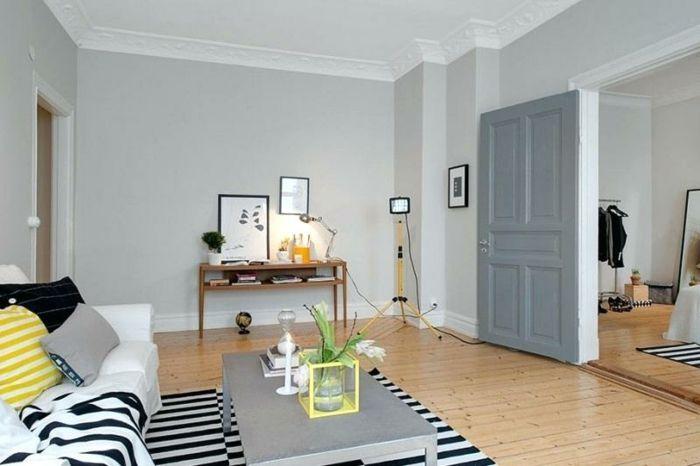 ▷ 1001 + Ideen für Wandfarbe Hellgrau zum Nachstreichen Böden - Laminat Grau Wohnzimmer