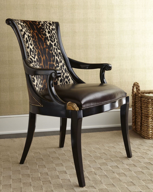 Ambella Inga Hairhide Barstool: Maitland-Smith Maisie Hairhide Chair