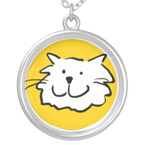 That Cat - smiling Round Pendant Necklace