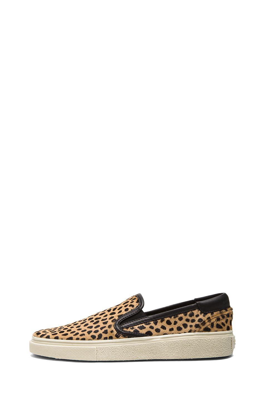 Saint Laurent|Skate Calf Hair Slip-On Sneakers in Leopard Print [1]