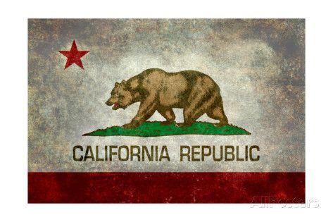 California State Flag With Distressed Treatment Art Print