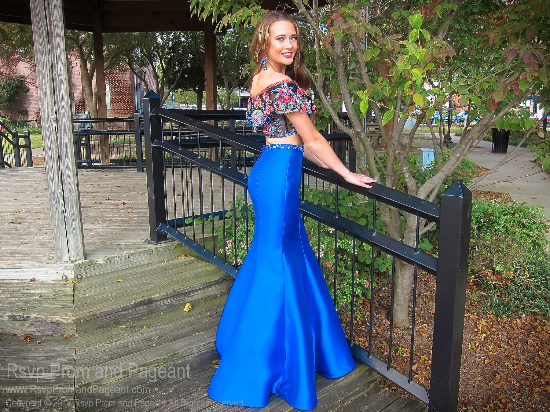Royal Multi Bohemian Off The Shoulder Two Piece Mermaid Prom Dress Mermaid Prom Dresses Royal Blue Prom Dresses Pageant Dresses [ 1349 x 1800 Pixel ]