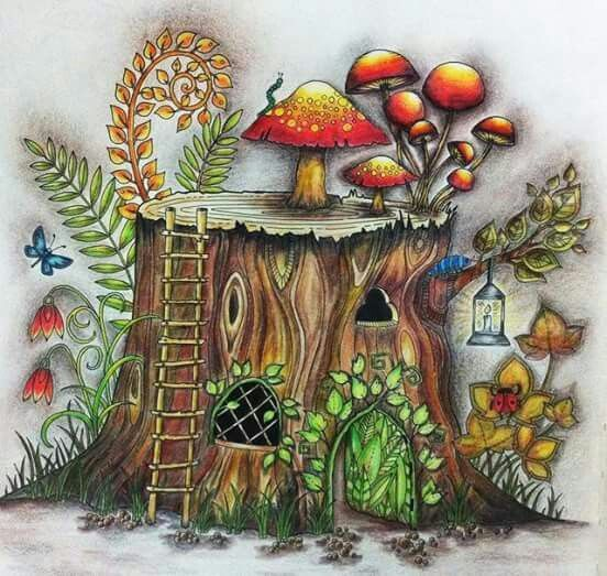 enchanted forest coloring book finished Google Search