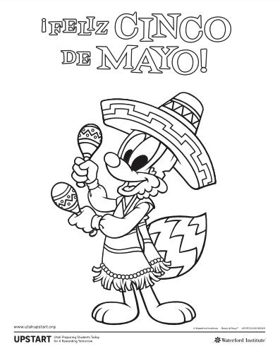 Cinco De Mayo Coloring Page Cinco De Mayo Coloring Pages De Mayo