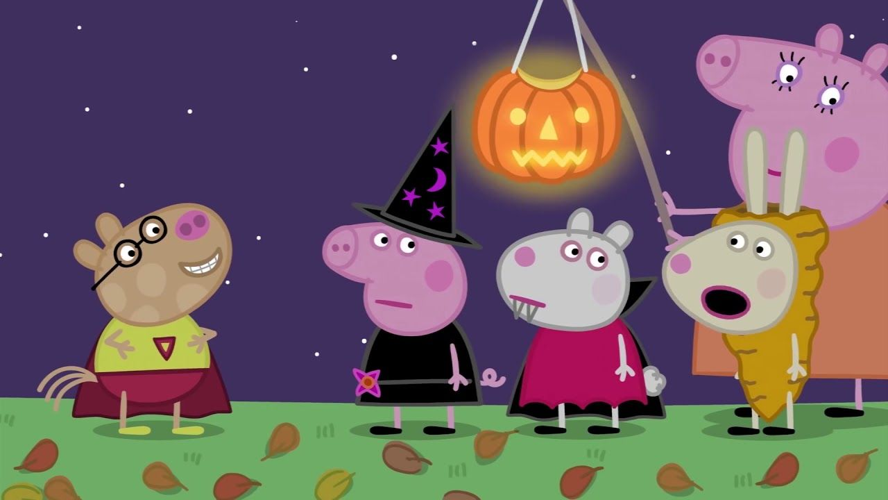 Peppapig And Friends Disguises Into Famous Monster In The