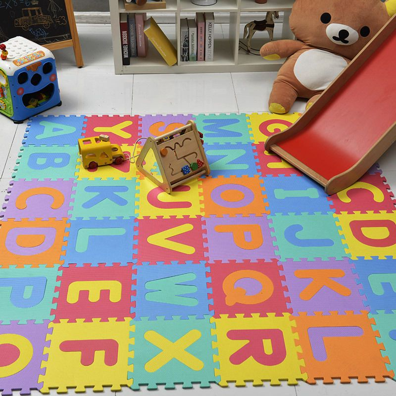 10 Pcs Baby Soft EVA Foam Play Mat Alphabet Numbers Puzzle DIY Toy Crawling Rugs