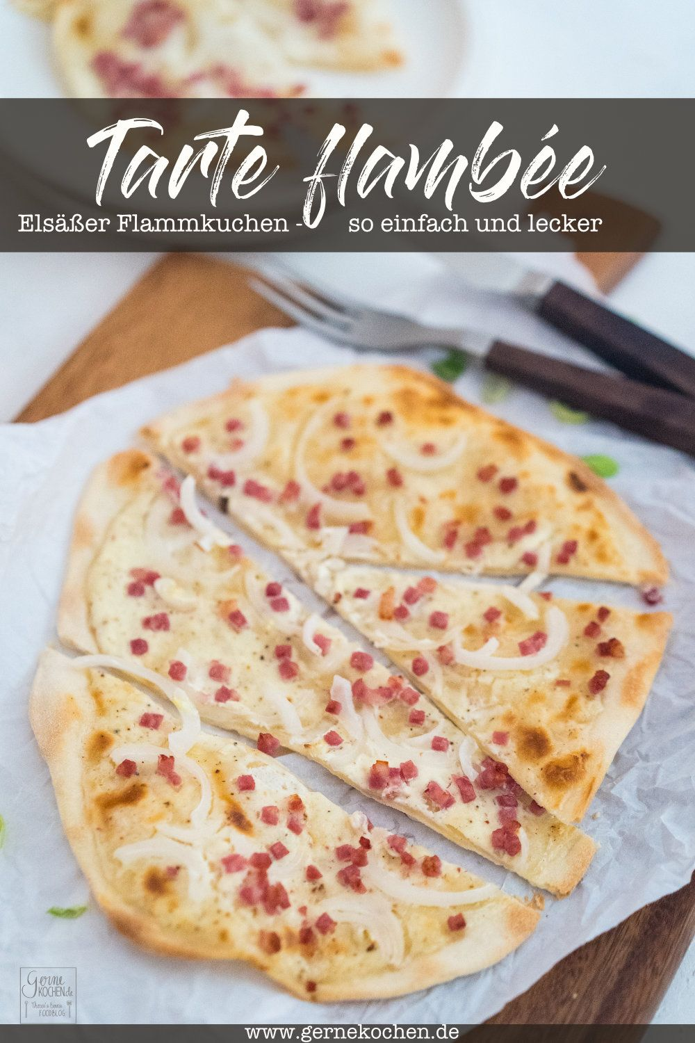 Photo of Tarte flambée – Alsatian tarte flambée (advertisement)