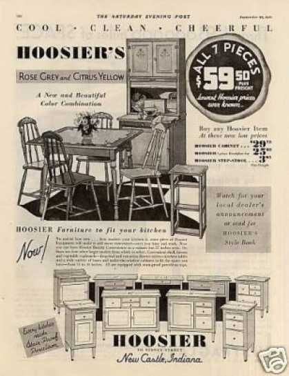 Hoosier Kitchen Cabinet 1931 1930s Kitchen Household Vintage Kitchen