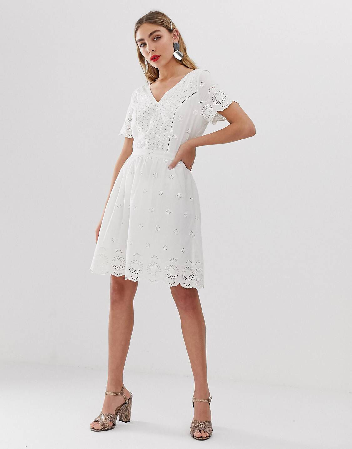 0404b0d5099 Only broderie anglais mini dress in 2019