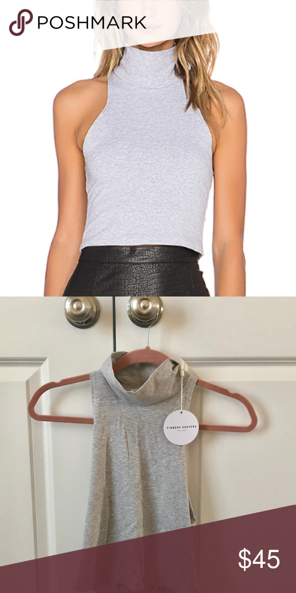 Finders Keepers Recollection Top Soft Grey Crop Ish Perfect For Fall Never