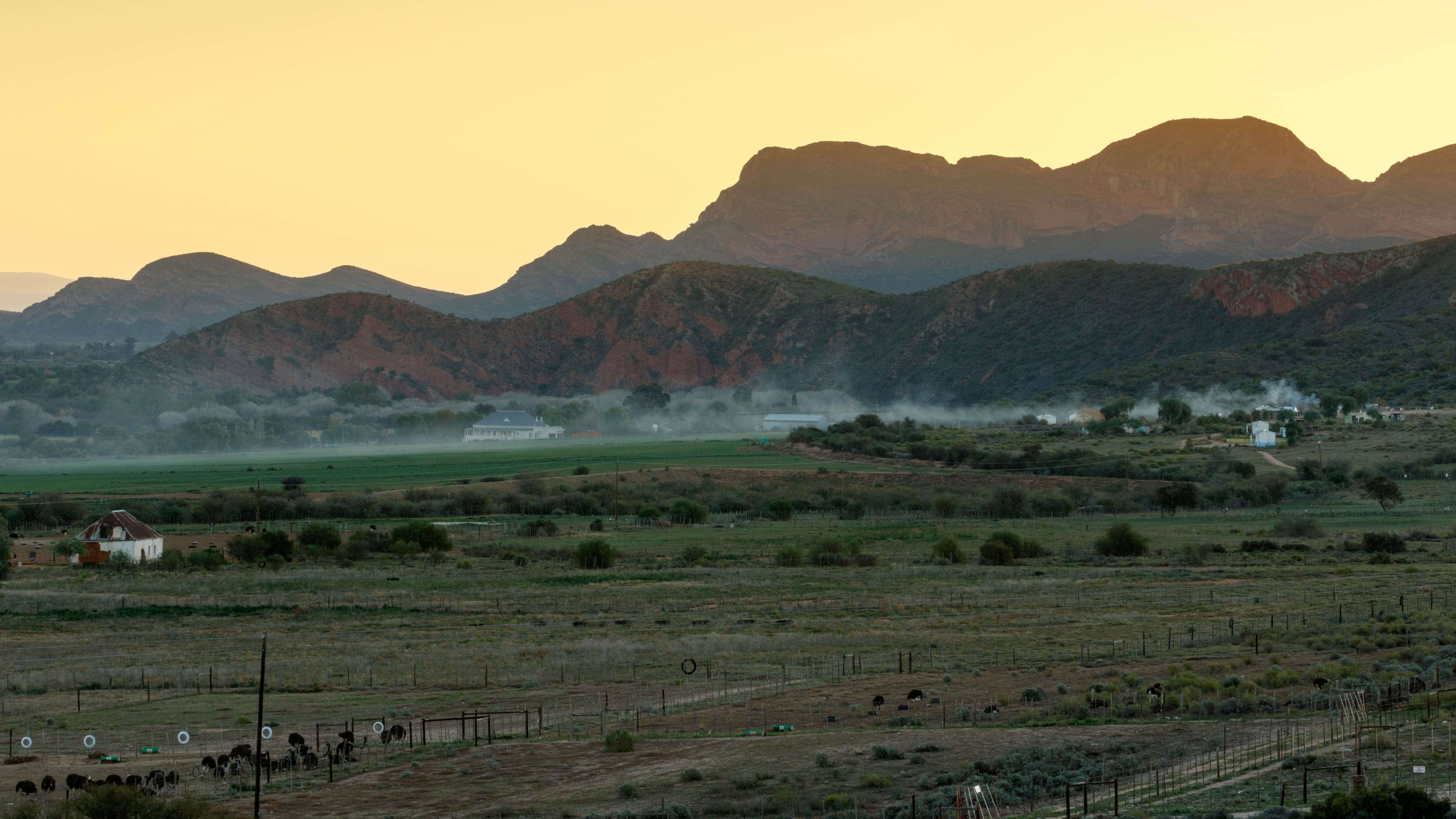 Mist over Middle Plaas - De Rust Mist over Middle Plaas - De Rust is a small village at the gateway to the Klein Karoo, South Africa.