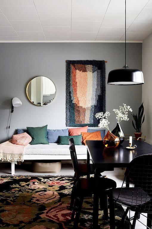 Kuscheliger Raum: Textilien und bunte Farben | Living Room ...