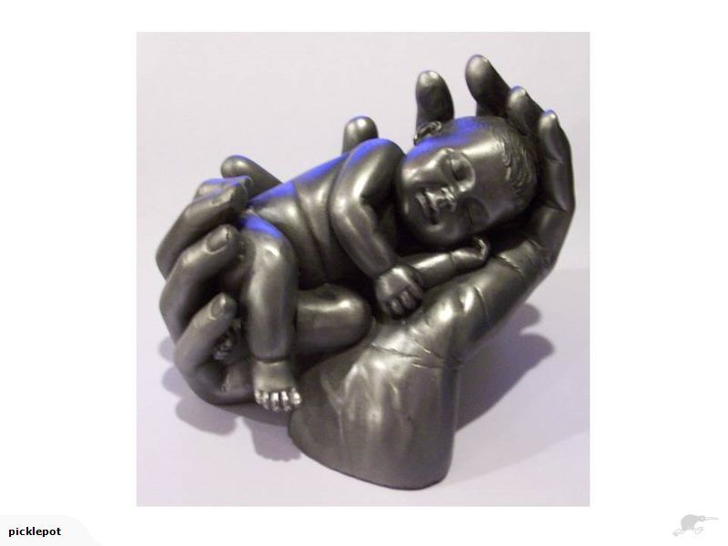 TradeMe.co.nz - Cute Baby in Hands Ornament *****ONE ONLY***** - New Zealand