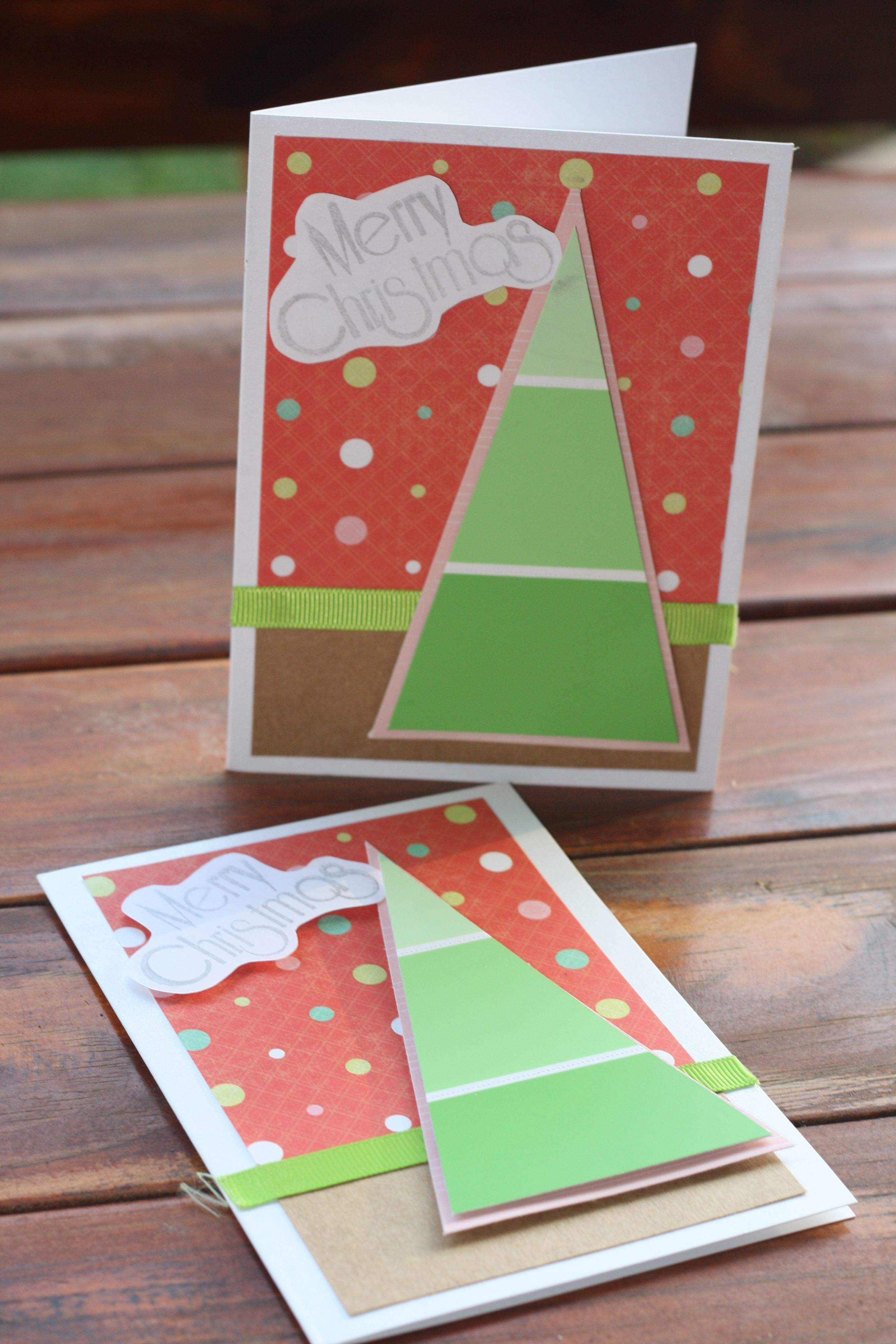 DIY Christmas cards. Combined a few ideas found on Pinterest and in ...