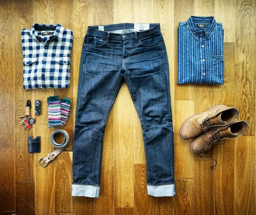 http://chicerman.com  selvedge-socks-shoes:  Back to the heavy overshirts. You win again nature. by @warpnindigo  #menshoes