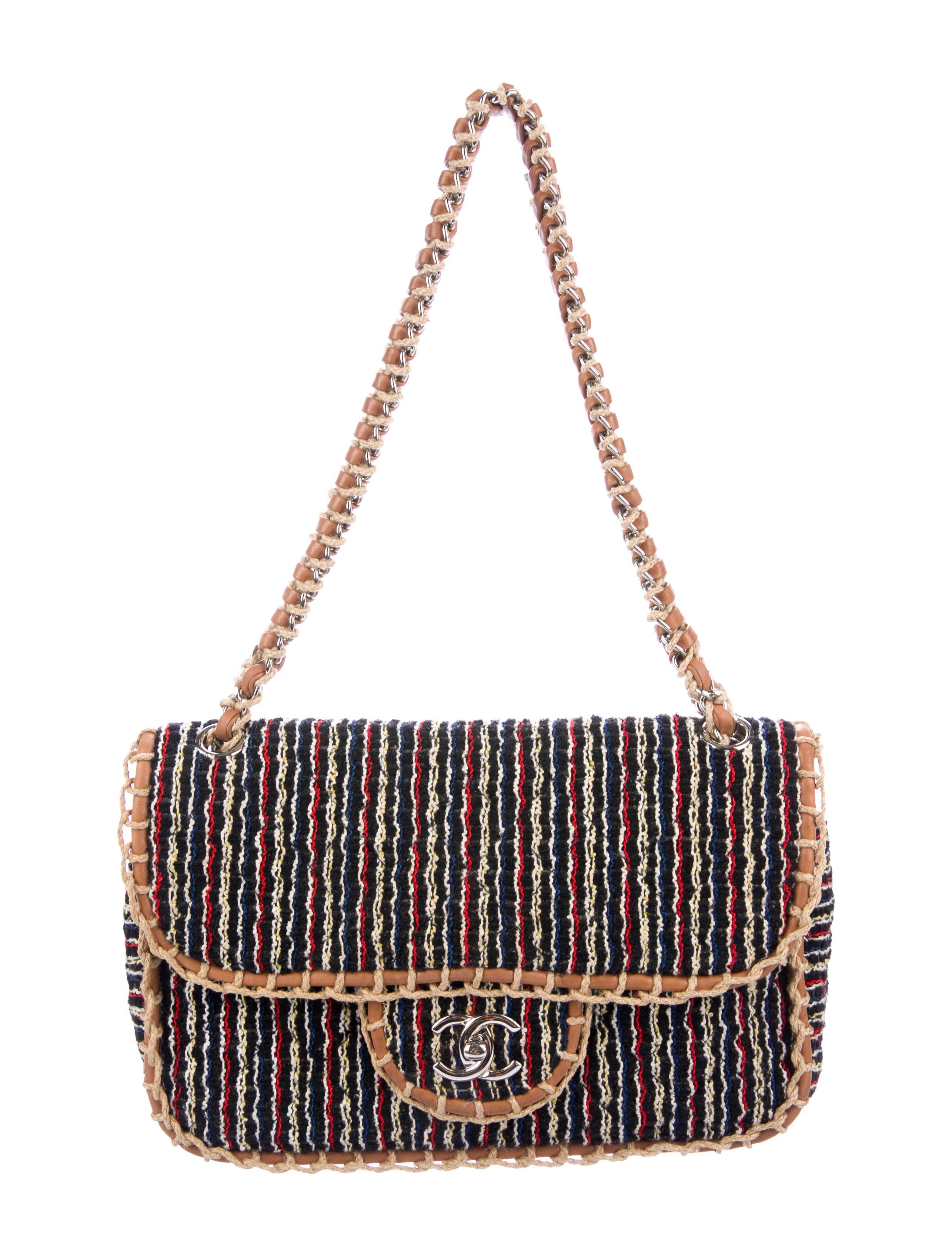 037d242d485762 Black and multicolor quilted tweed Chanel St. Tropez Flap bag with  silver-tone hardware
