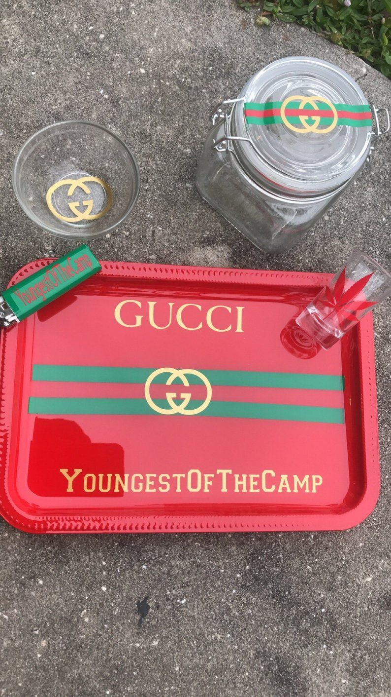 d960606965276 Gucci Inspired Rolling Tray in 2019 | Father's Day present | Tray ...