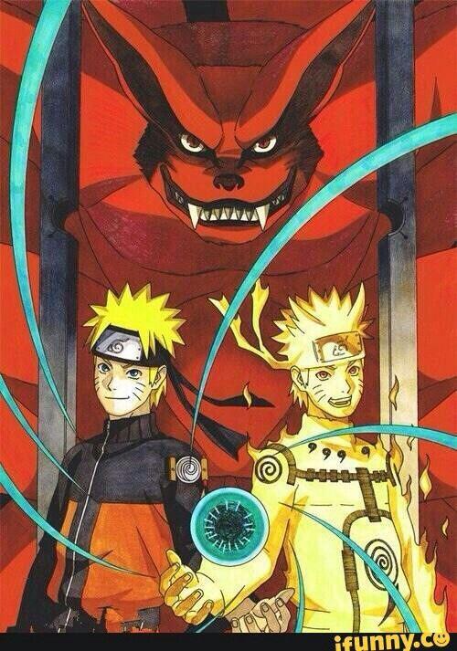 Naruto Nine Tails Sage Mode Rasengan Kyuubi Kurama Naruto