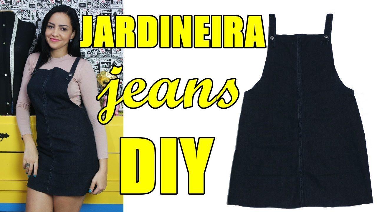 fd423456c9cda7 Jardineira /Salopete jeans feita com pernas de calça Diy - Suellen ...
