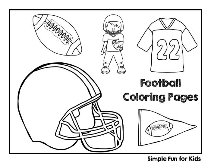 - Football Coloring Pages - Simple Fun For Kids Football Coloring Pages, Coloring  Pages, Bear Coloring Pages