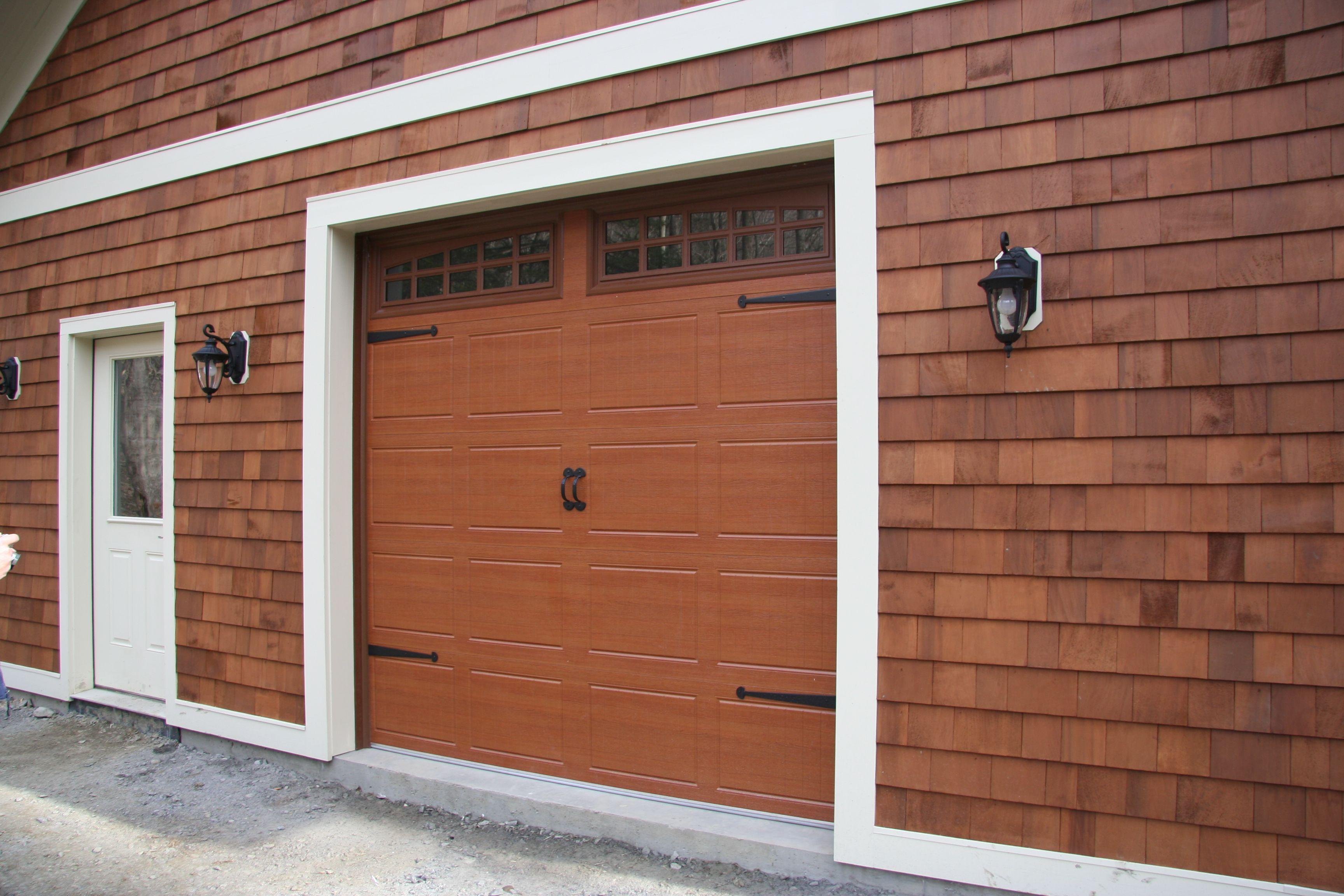 panel design accufinish door opener pin raynor garage cherry doors overhead colonial dutchess